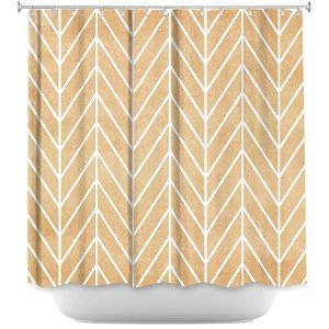 Unique Shower Curtains 71w x 74h Inches from DiaNoche Designs by Marley Ungaro - HB Tan Exclusive