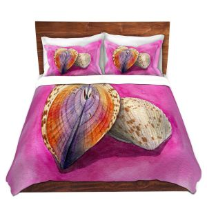 Artistic Duvet Covers and Shams Bedding | Marley Ungaro - Heart Cockle | Ocean seashell still life nature