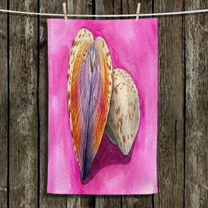 Unique Hanging Tea Towels | Marley Ungaro - Heart Cockle | Ocean seashell still life nature