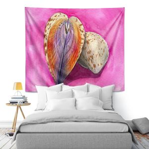 Artistic Wall Tapestry | Marley Ungaro - Heart Cockle | Ocean seashell still life nature