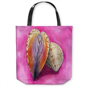 Unique Shoulder Bag Tote Bags | Marley Ungaro - Heart Cockle | Ocean seashell still life nature