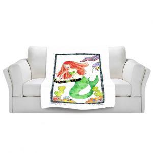 Artistic Sherpa Pile Blankets | Marley Ungaro Helping Hand Mermaid
