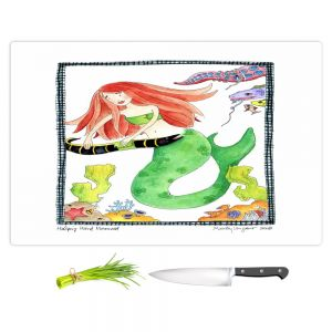 Artistic Kitchen Bar Cutting Boards | Marley Ungaro - Helping Hand Mermaid