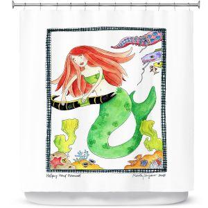 Premium Shower Curtains | Marley Ungaro Helping Hand Mermaid