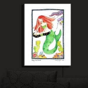 Nightlight Sconce Canvas Light   Marley Ungaro - Helping Hand Mermaid