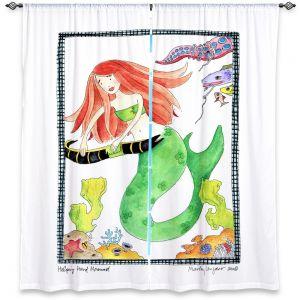 Decorative Window Treatments | Marley Ungaro Helping Hand Mermaid