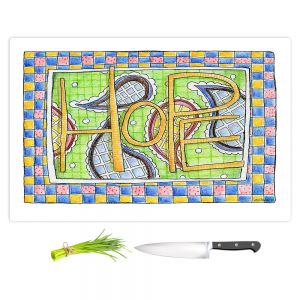 Artistic Kitchen Bar Cutting Boards | Marley Ungaro - Hope | Text typography words