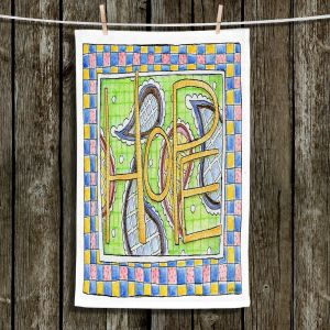 Unique Bathroom Towels | Marley Ungaro - Hope | Text typography words