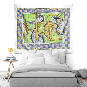 Artistic Wall Tapestry | Marley Ungaro - Hope | Text typography words