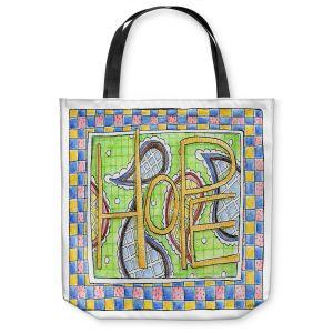 Unique Shoulder Bag Tote Bags | Marley Ungaro - Hope | Text typography words