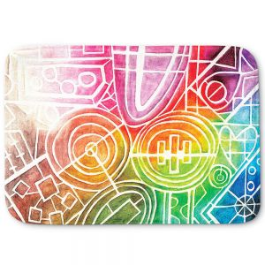 Decorative Bathroom Mats | Marley Ungaro - I Dream in Color | Abstract Shapes