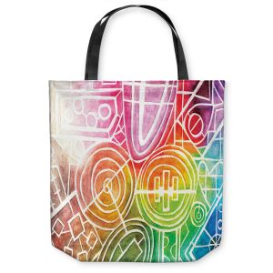 Unique Shoulder Bag Tote Bags | Marley Ungaro - I Dream in Color | Abstract Shapes