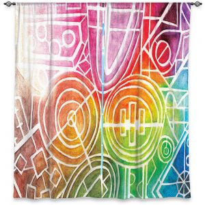 Decorative Window Treatments | Marley Ungaro - I Dream in Color | Abstract Shapes