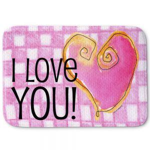 Decorative Bathroom Mats | Marley Ungaro - I love You Pink
