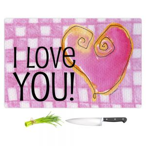 Artistic Kitchen Bar Cutting Boards | Marley Ungaro - I love You Pink