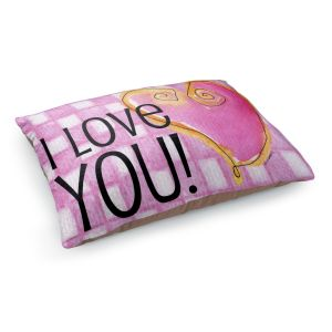 Decorative Dog Pet Beds | Marley Ungaro - I love You Pink