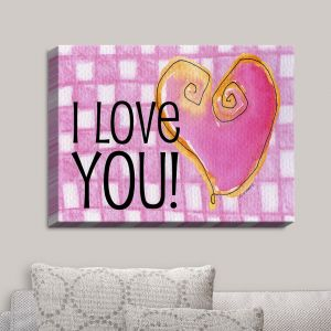 Decorative Canvas Wall Art | Marley Ungaro - I love You Pink | Love Quotes Sayings Inspiring