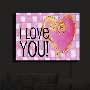 Nightlight Sconce Canvas Light | Marley Ungaro - I love You Pink | Love Quotes Sayings Inspiring