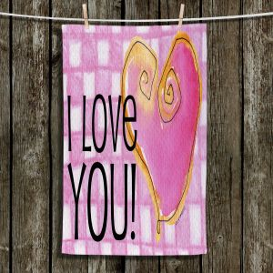 Unique Bathroom Towels | Marley Ungaro - I love You Pink