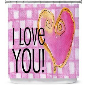 Premium Shower Curtains | Marley Ungaro - I love You Pink