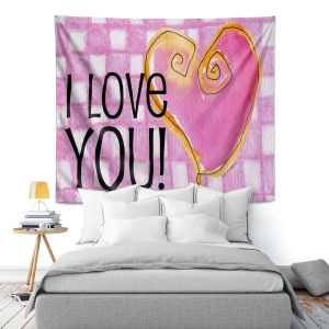 Artistic Wall Tapestry | Marley Ungaro - I love You Pink