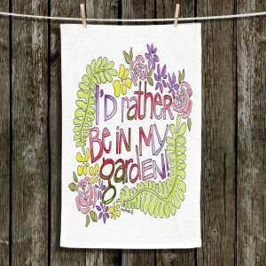 Unique Hanging Tea Towels | Marley Ungaro - In My Garden | Text typography words