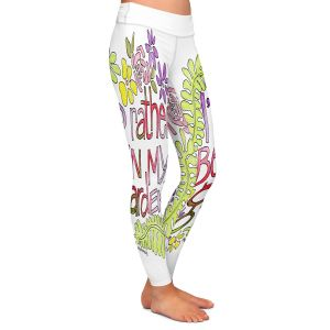 Casual Comfortable Leggings | Marley Ungaro - In My Garden | Text typography words