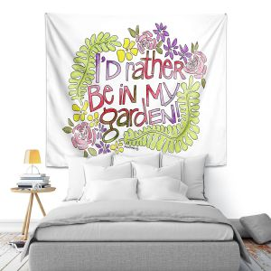 Artistic Wall Tapestry   Marley Ungaro - In My Garden   Text typography words