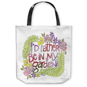 Unique Shoulder Bag Tote Bags | Marley Ungaro - In My Garden | Text typography words
