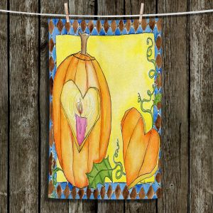 Unique Hanging Tea Towels | Marley Ungaro - Jack of Hearts | Halloween spooky pattern abstract