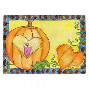Countertop Place Mats | Marley Ungaro - Jack of Hearts | Halloween spooky pattern abstract