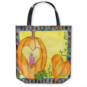 Unique Shoulder Bag Tote Bags | Marley Ungaro - Jack of Hearts | Halloween spooky pattern abstract
