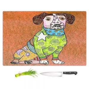 Artistic Kitchen Bar Cutting Boards | Marley Ungaro - Jack Russell Dog Camel