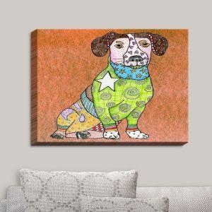 Decorative Canvas Wall Art   Marley Ungaro - Jack Russell Dog Camel