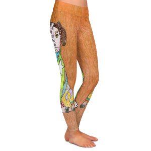 Casual Comfortable Leggings   Marley Ungaro - Jack Russell Dog Camel