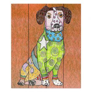 Decorative Wood Plank Wall Art   Marley Ungaro - Jack Russell Dog Camel