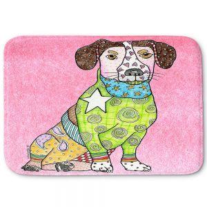 Decorative Bathroom Mats | Marley Ungaro - Jack Russell Dog Light Pink