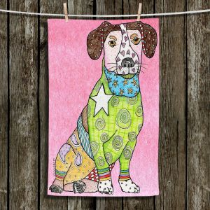 Unique Bathroom Towels | Marley Ungaro - Jack Russell Dog Light Pink