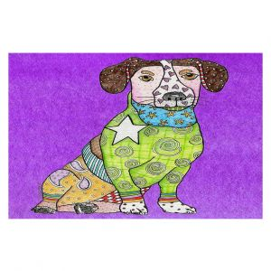 Decorative Floor Coverings   Marley Ungaro - Jack Russell Dog Purple