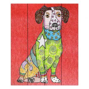 Decorative Wood Plank Wall Art | Marley Ungaro - Jack Russell Dog Watermelon