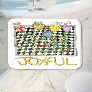 Decorative Bathroom Mats | Marley Ungaro - Joyful Flowers | Floral Inspiration