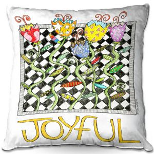 Decorative Outdoor Patio Pillow Cushion | Marley Ungaro - Joyful Flowers | Floral Inspiration