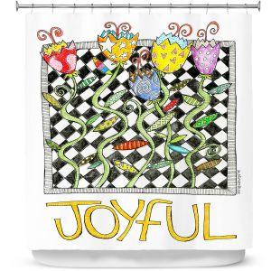 Premium Shower Curtains | Marley Ungaro - Joyful Flowers