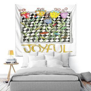 Artistic Wall Tapestry | Marley Ungaro - Joyful Flowers | Floral Inspiration