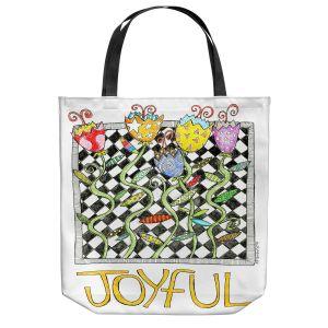 Unique Shoulder Bag Tote Bags | Marley Ungaro - Joyful Flowers | Floral Inspiration