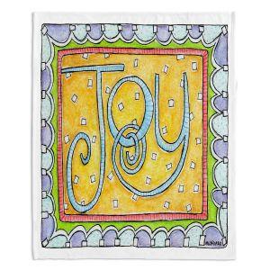 Decorative Fleece Throw Blankets | Marley Ungaro - Joy | Text typography words