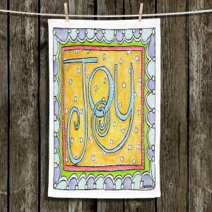 Unique Hanging Tea Towels | Marley Ungaro - Joy | Text typography words