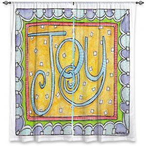 Decorative Window Treatments | Marley Ungaro - Joy | Text typography words
