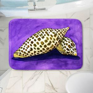 Decorative Bathroom Mats | Marley Ungaro - Junonia | Ocean seashell still life nature