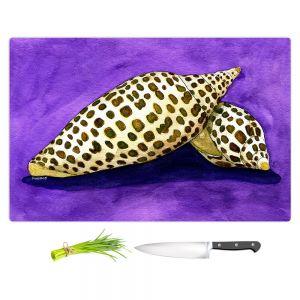 Artistic Kitchen Bar Cutting Boards | Marley Ungaro - Junonia | Ocean seashell still life nature